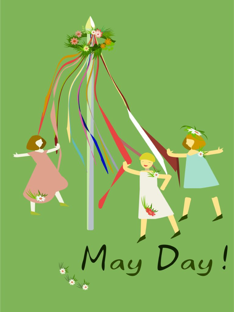 May Day pole dancing